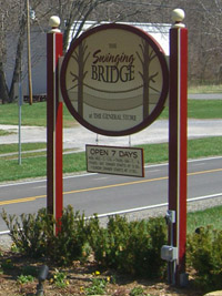 The Swinging Bridge Restaurant, Paint Bank, Virginia