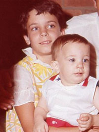 My sister and I in the late 60's