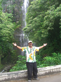 Our tour guide at Wailua Falls